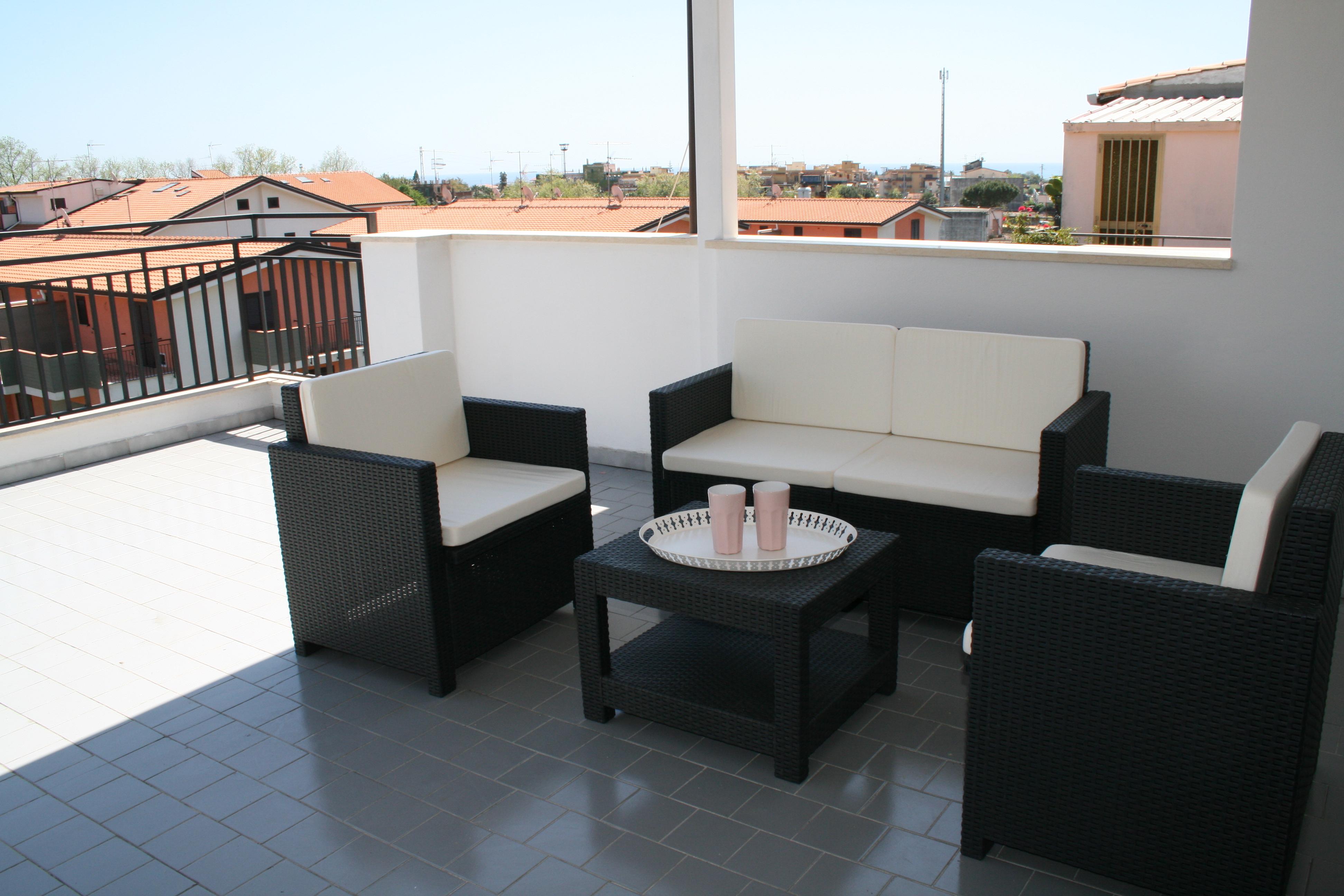 Sizilien Ostk ste Moderno appartamento con terrazza panoramica ...